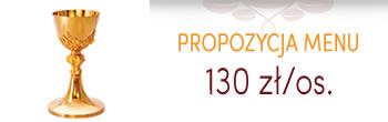Propozycja menu komunijne - 120zł/os