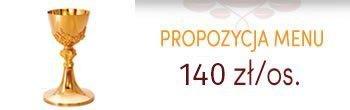 Propozycja menu komunijne - 130zł/os