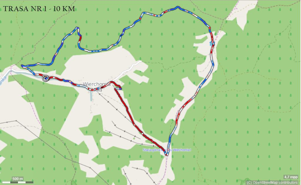 Trasa nr 1 - 10 km
