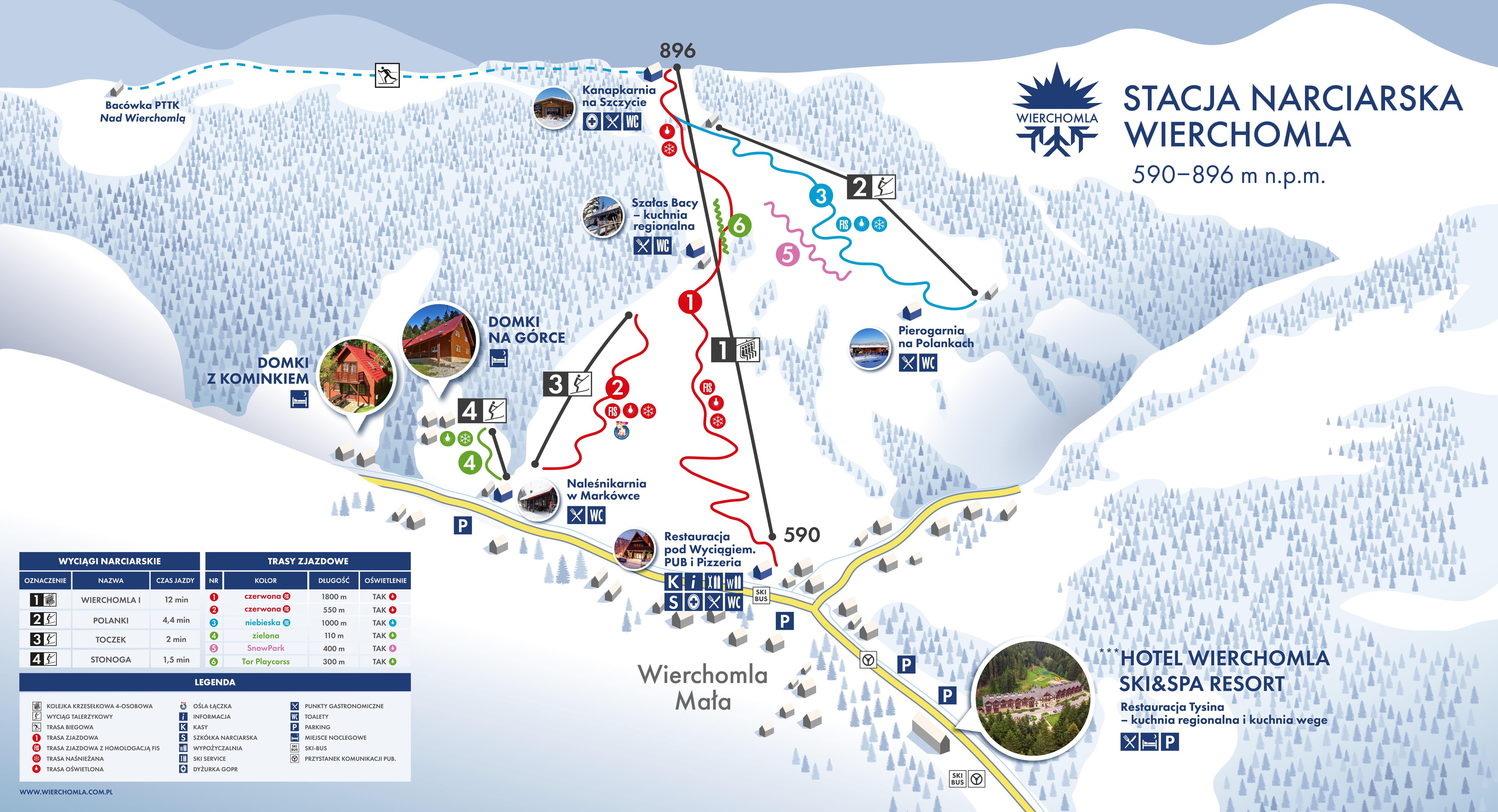 Mapy Tras W Wierchomla