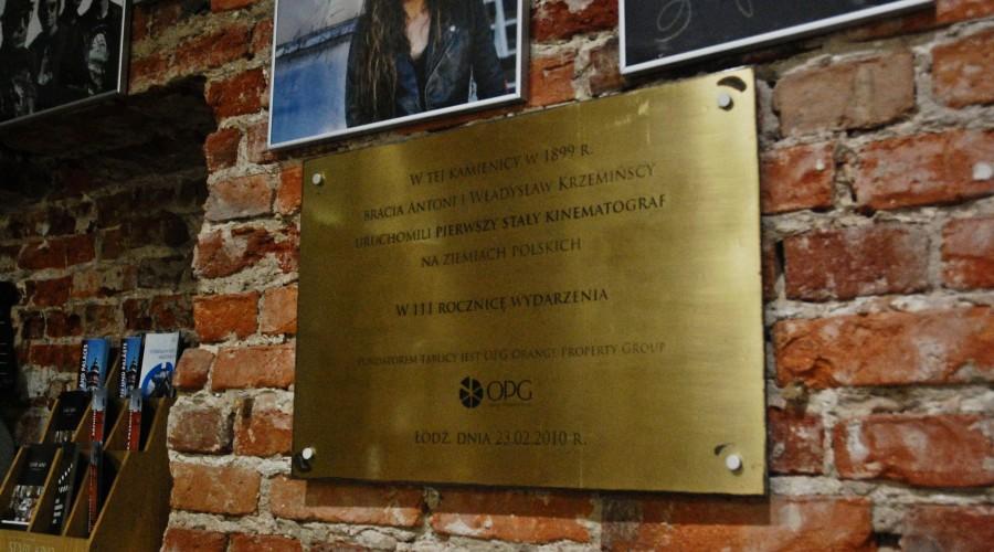 Tablica pamiątkowa Stare Kino Łódź