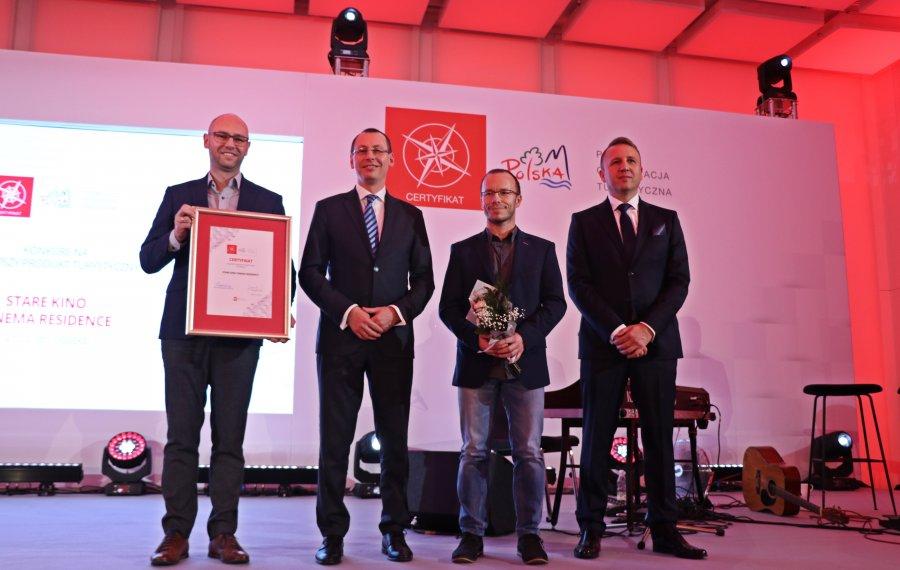 Stare Kino z certyfikatem Polskiej Organizacji Turystycznej na Najlepszy Produkt Turystyczny 2018