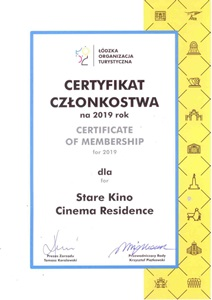 Certyfikat Stare Kino