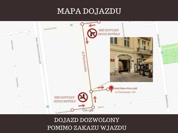 Mapa dojazdu Stare Kino Łódź