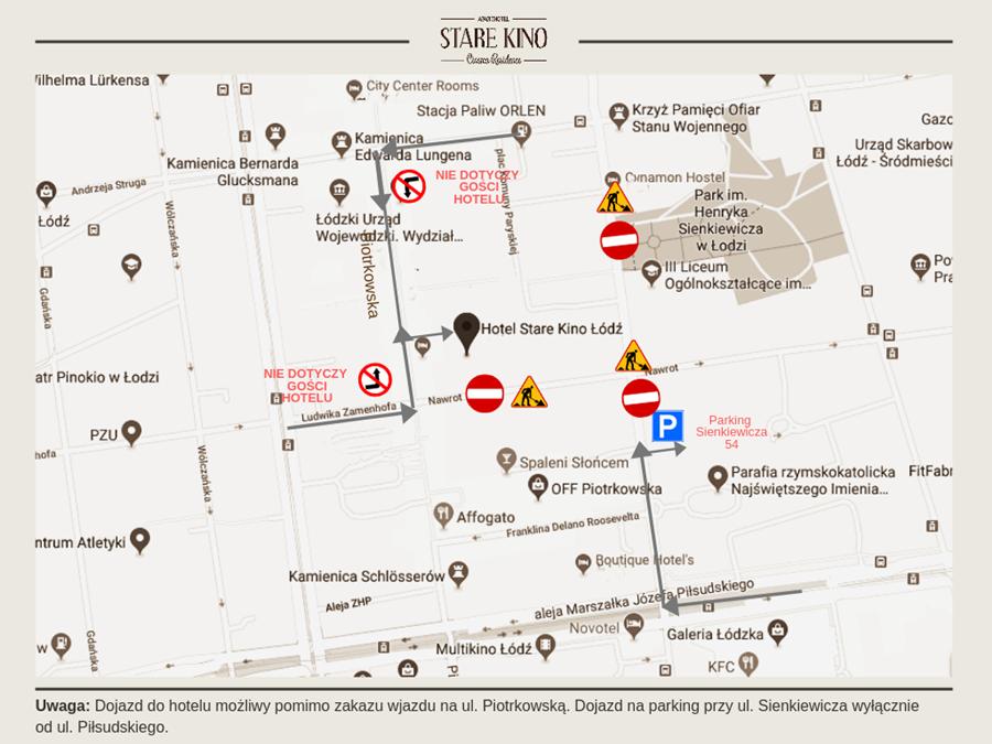 Stare Kino mapa dojazdu