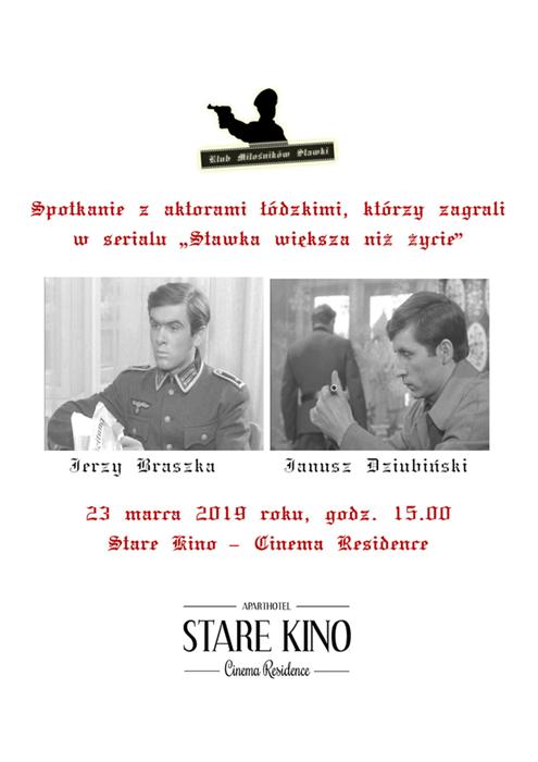 Spotkanie Klub Miłośników Stawki Łódź hotel Stare Kino