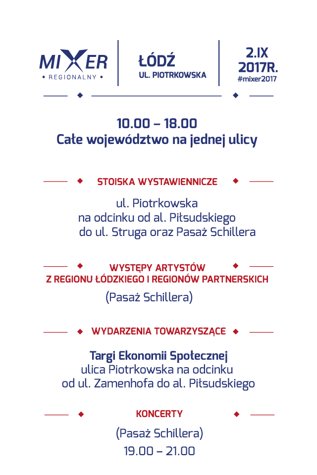 Mixer Regionalny 2017 plan