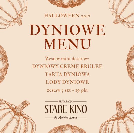 Dyniowe Menu - Halloween 2017