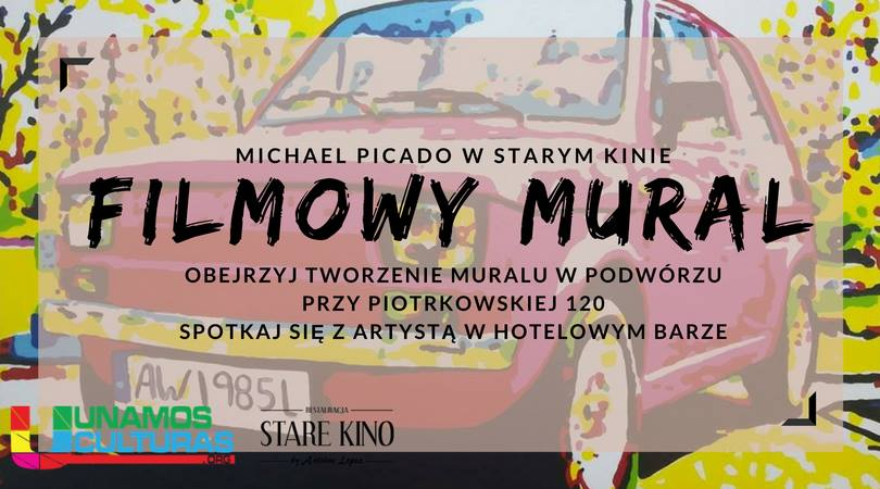 Michael Picado w Starym Kinie - Filmowy Mural