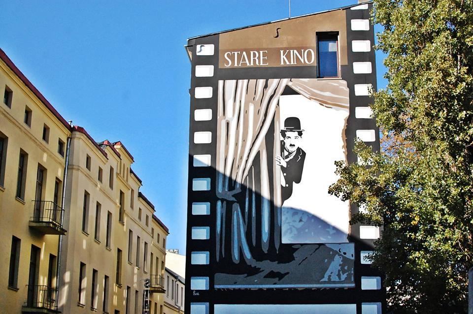 Stare Kino - filmowy mural
