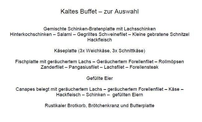 Kaltes Buffet
