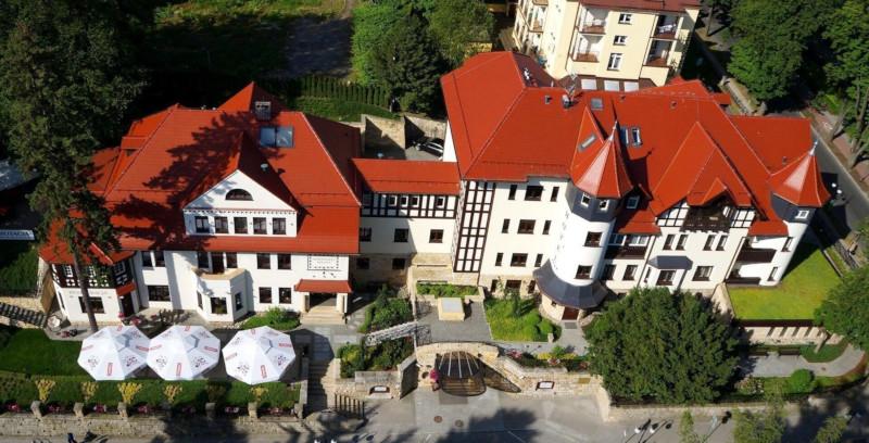 Hotel Bukowy Park z lotu ptaka