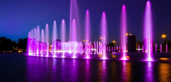 Pokazy w Parku Fontann w Warszawie dla dzieci