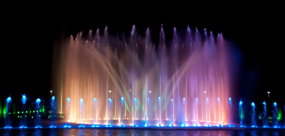 Multimedialne fontanny we Wrocławiu