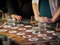 Gallery - Casino and whiskey tasting table
