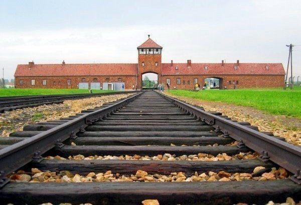 Auschwitz-Birkenau in Oświęcim.