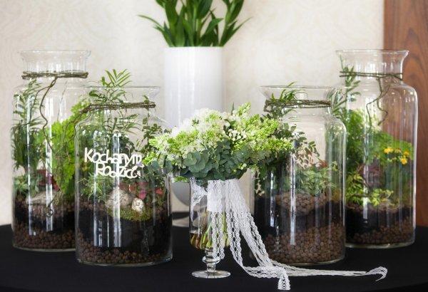 Geschenk für Eltern - Waldverzierung im Glas