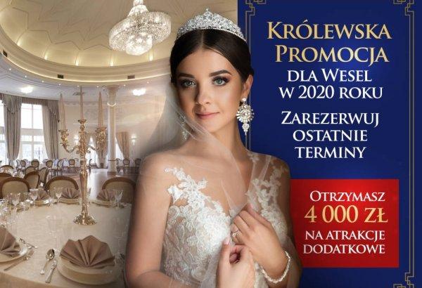 Zorganizuj wesele jeszcze w 2020 roku i odbierz 4000 zł na atrakcje dodatkowe