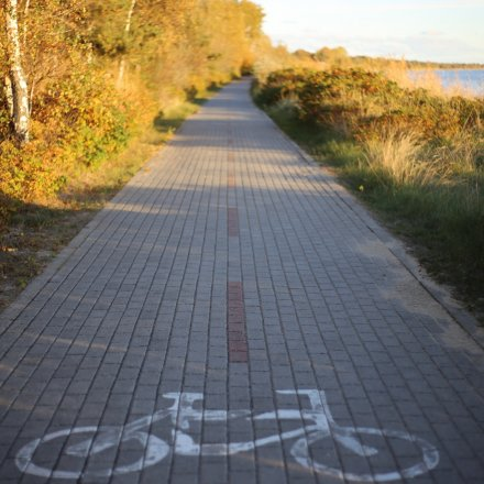 Bike lane along Hel Peninsula