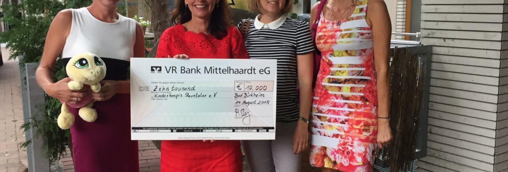 € 10.000 Spende für Kinderhospiz