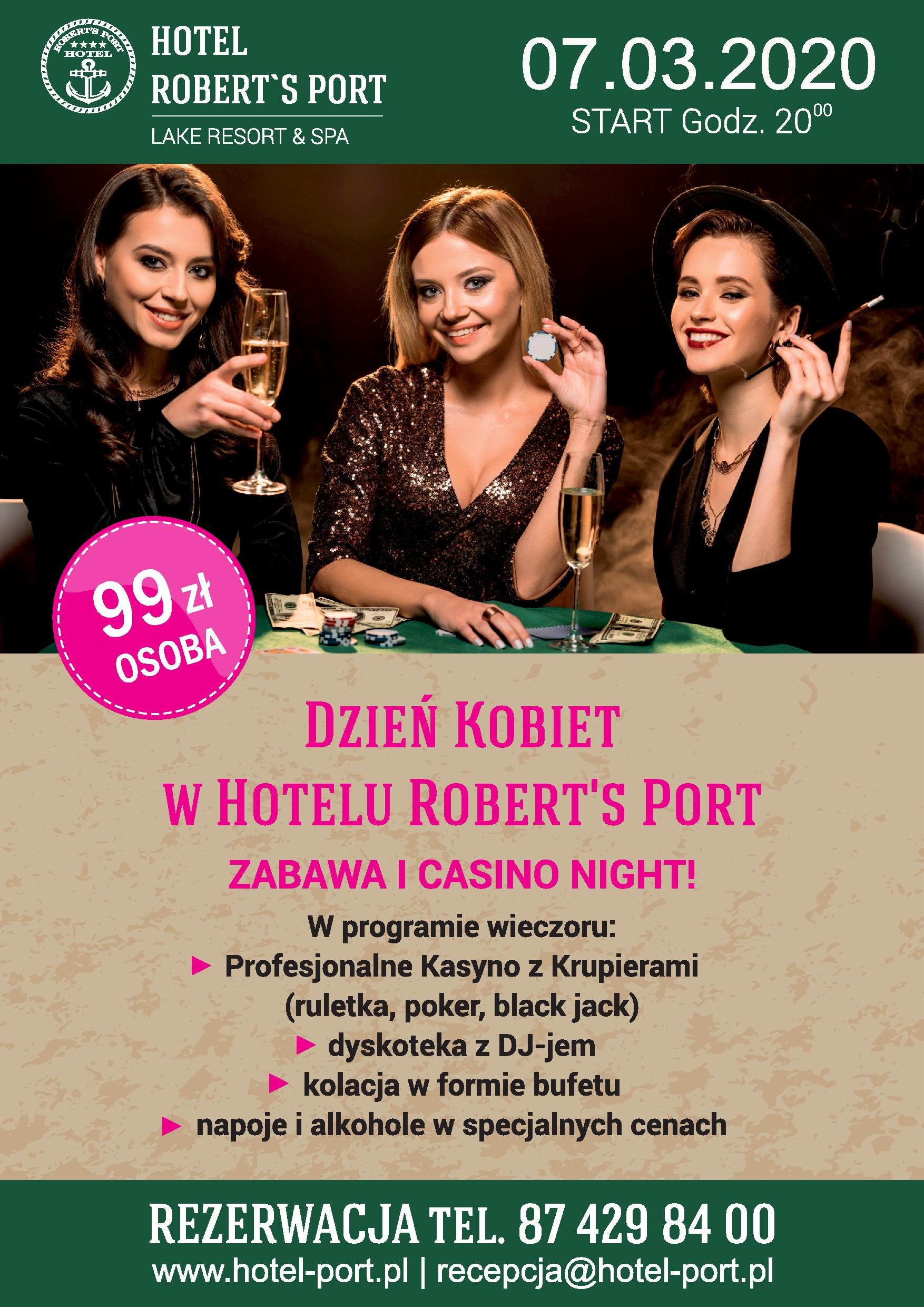 Casino Night w Hotelu Robert's Port