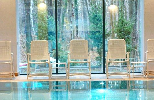 Swimming pool and saunas