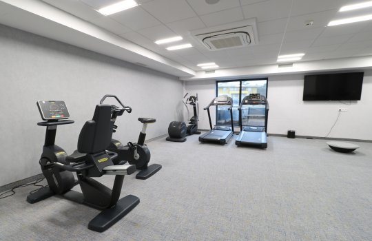 Modern equipped gym