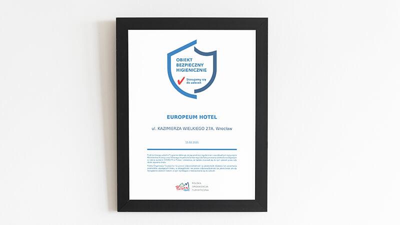 bezpieczny obiekt hotel Europeum
