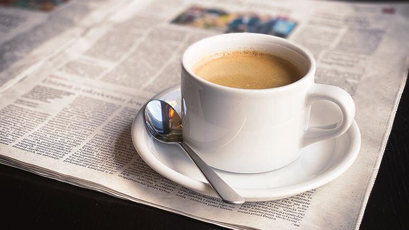 kawa na śniadaniach w Europeum