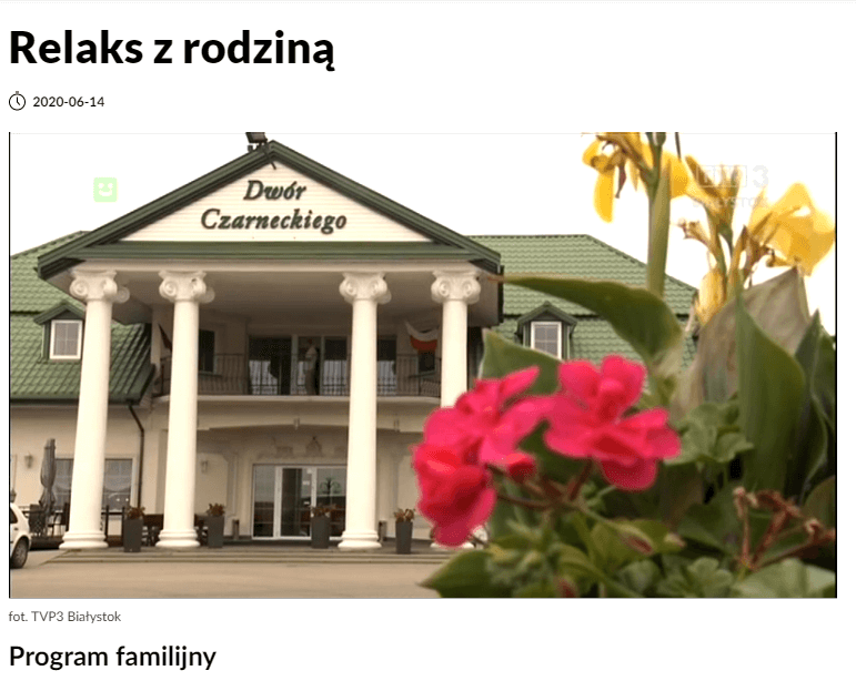Dwór Czarneckiego w programie TVP