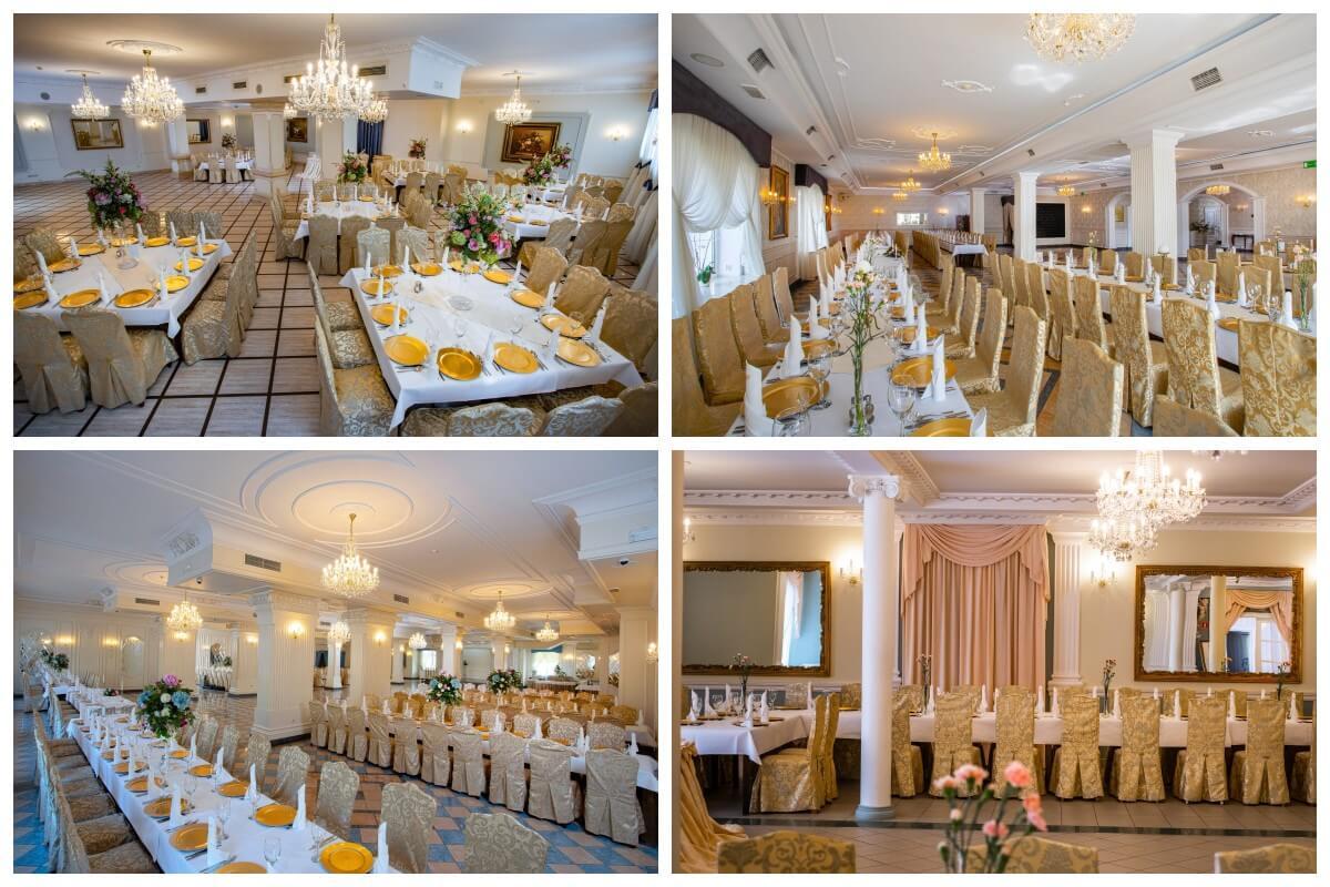 Kolaż sal weselnych | Hotel Dwór Czarneckiego