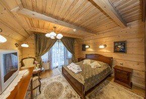 Luksusowy drewniany domek Zakopane z kominkiem i sauną