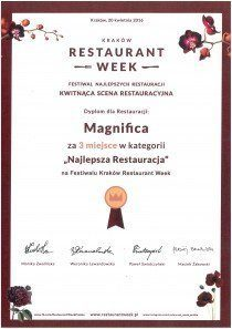 restaurant week - 3cie miejsce