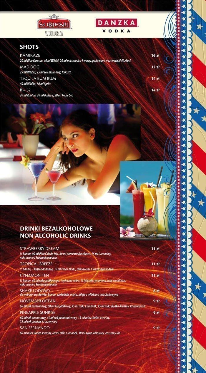 karta drinków