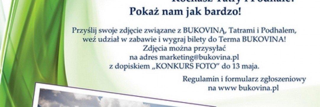 Wiosenny konkurs fotograficzny z BUKOVINĄ